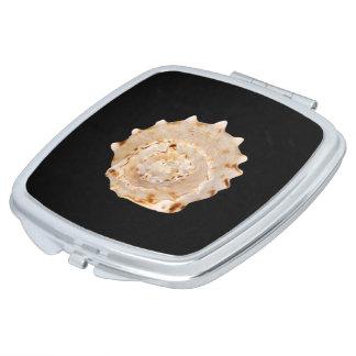De Compacte Spiegel van Shell van de kroonslak Makeup Spiegels