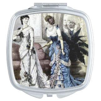 De Compacte Spiegel van vintage Vrouwen Handtas Spiegeltje