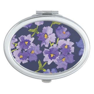De Compacte Spiegel van Watercolour van de paarse Makeup Spiegeltjes