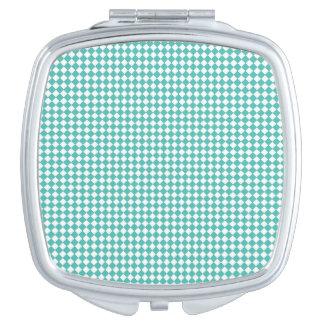 De compacte Vierkante Gingang van Aqua van de Makeup Spiegeltje