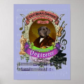 De Componist van de Hond van Dogizetti van de Poster