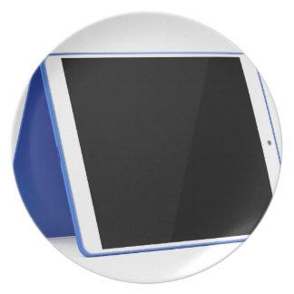 De computer van de tablet op wit melamine+bord