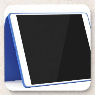 De computer van de tablet op wit onderzetter