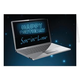 De Computer van de Verjaardag van de schoonzoon Kaart