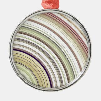 De concentrische Samenvatting van Ringen Zilverkleurig Rond Ornament