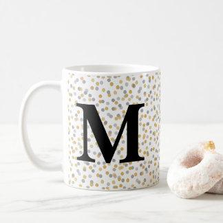 De Confettien van het monogram Koffiemok