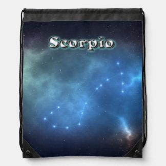 De constellatie van Schorpioen Trekkoord Rugzakje