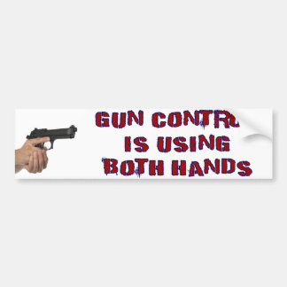 De Controle van het pistool gebruikt Beide Handen Bumpersticker