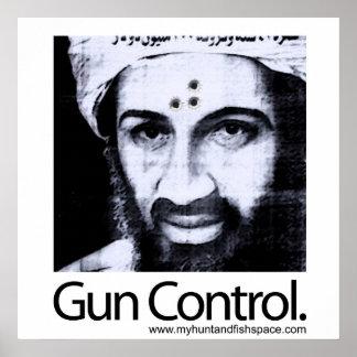 De Controle van het pistool Poster