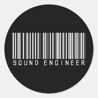 De correcte Streepjescode van de Ingenieur Ronde Sticker
