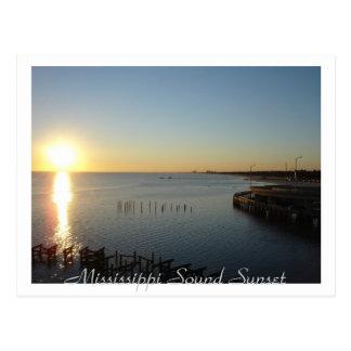De Correcte Zonsondergang van de Mississippi Briefkaart