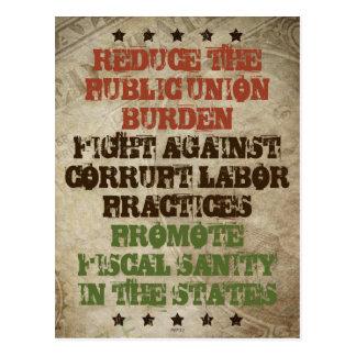 De Corrupte Arbeid van de strijd Briefkaart