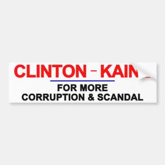 De Corruptie en het Schandaal van Kaine van Bumpersticker