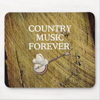 De Country muziek van het T-SHIRT voor altijd Muismat