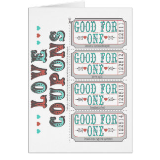 De coupons van de liefde kaart