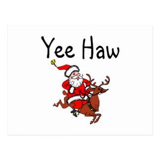 De Cowboy de Kerstman van de Hagedoorn van Yee Briefkaart