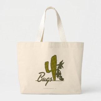 De Cowboy die van INSECTEN BUNNY™ op Cactus leunen Grote Draagtas