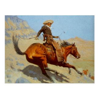 De cowboy van Frederic Remington's (1902) Briefkaart