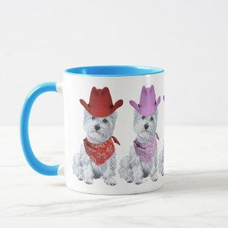 De Cowboys van Westie allen in een Lijn Mok
