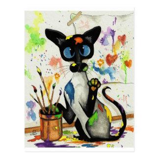 De creatieve Kat van het Kat Briefkaart