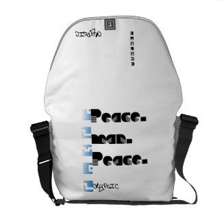 De Cryptische Zak van het Man van de vrede Courier Bag
