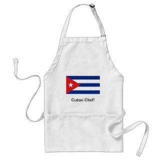 De Cubaanse schort van de vlagchef-kok