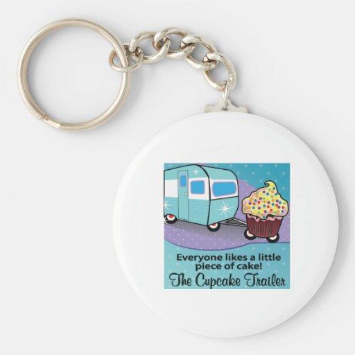 De Cupcake Aanhangwagen Keychain Sleutelhanger