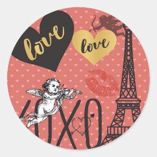 De Cupido's van Valentijn, Harten en de Toren van Ronde Sticker