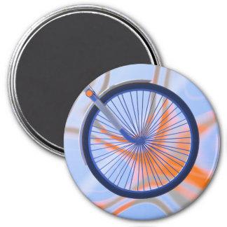 De Cyclus van de fiets - het Wiel van de Fiets Ronde Magneet 7,6 Cm