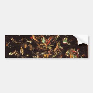 De dag des oordeels door Hieronymus Bosch Bumpersticker