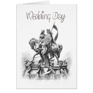 De dag-renaissance-Schets van het huwelijk Kaart