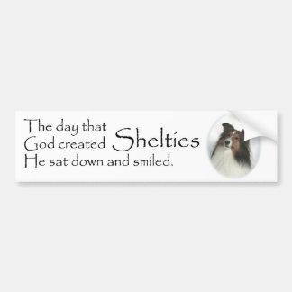 De dag Shelties was de Gecre?ërde Sticker van de B
