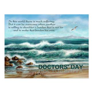 De Dag van artsen dankt u aan Arts, Blauw Briefkaart