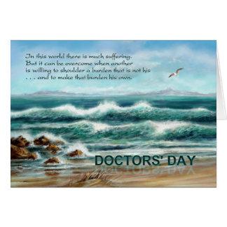 De Dag van artsen dankt u aan Arts, Blauw Briefkaarten 0
