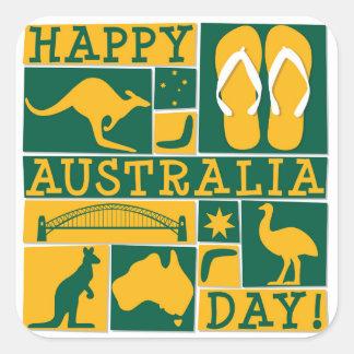 De Dag van Australië Vierkante Sticker