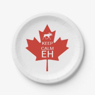 De Dag van Canada HOUDT KALME EH Papieren Bordje