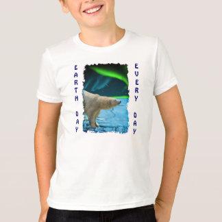 De Dag van de Aarde van de dageraad, van het Ijs & T Shirt