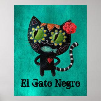 De dag van de Dode Zwarte Kat Poster