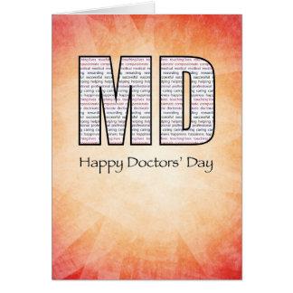 De Dag van de Gelukkige Artsen van het M.D.' met Briefkaarten 0
