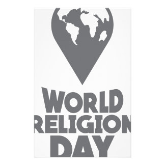 De Dag van de Godsdienst van de wereld - de Dag Briefpapier
