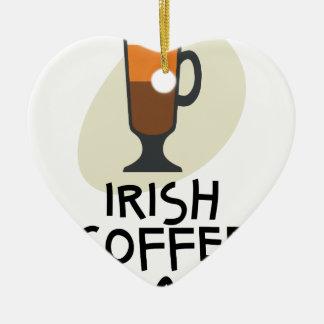 De Dag van de Irish coffee - de Dag van de Keramisch Hart Ornament