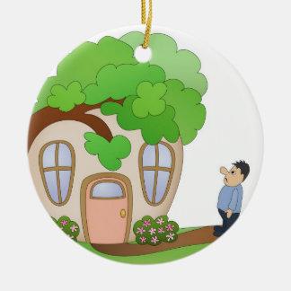 De Dag van de Ramp van de Eigenaar van het huis Rond Keramisch Ornament
