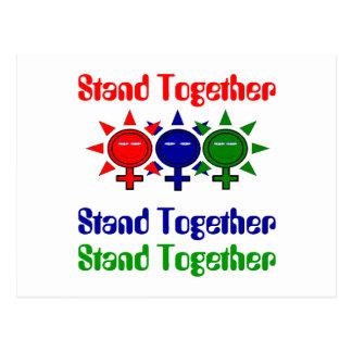 De Dag van de samen Internationale Vrouwen van de Briefkaart