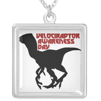 De Dag van de Voorlichting van Velociraptor Zilver Vergulden Ketting
