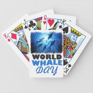 De Dag van de Walvis van de wereld - de Dag van de Bicycle Speelkaarten