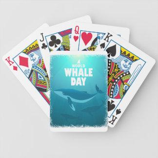 De Dag van de Walvis van de wereld - de Dag van de Poker Kaarten