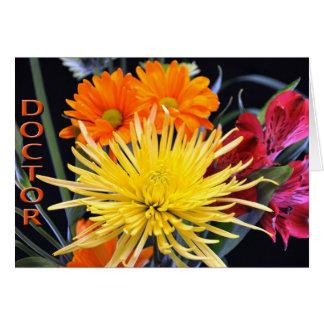 De Dag van gelukkige Artsen Bloemen Kaart