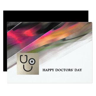 De Dag van gelukkige Artsen. De Vlakke Wenskaarten Kaart