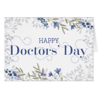 De Dag van gelukkige Artsen - Tekst Swirly en het Briefkaarten 0