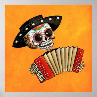 De dag van het Dode Skelet Gr Mariachi Poster